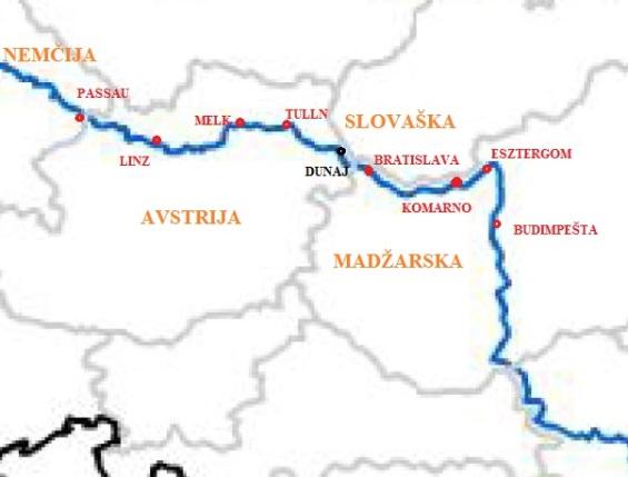 Naša pot ob Donavi  Passau - Budimpešta