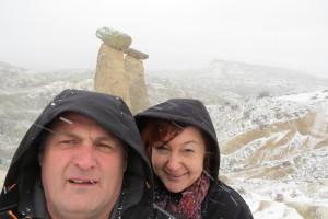 selfie v snežnem metežu